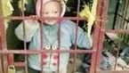 تنبیه بیرحمانه کودک 3 ساله در قفس سگ+عکس