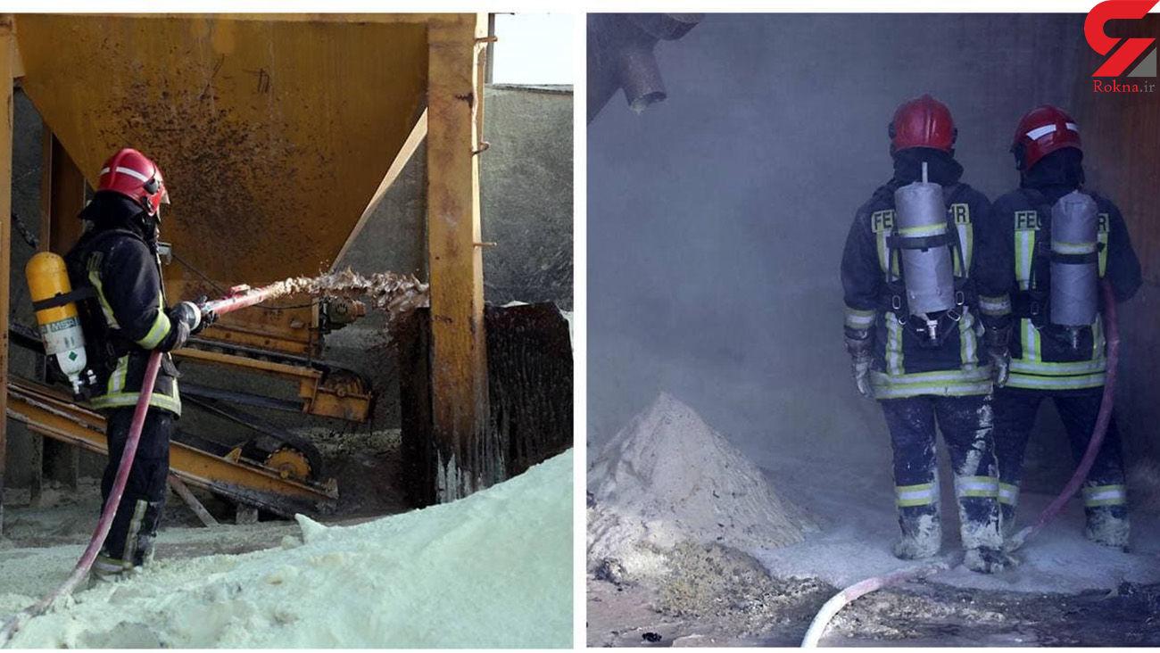 آتش سوزی در سوله بستهبندی گوگرد برای دومین در یک هفته / در مشهد رخ داد