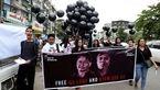 معترضان خواستار آزادی خبرنگاران محبوس رویترز در میانمار شدند