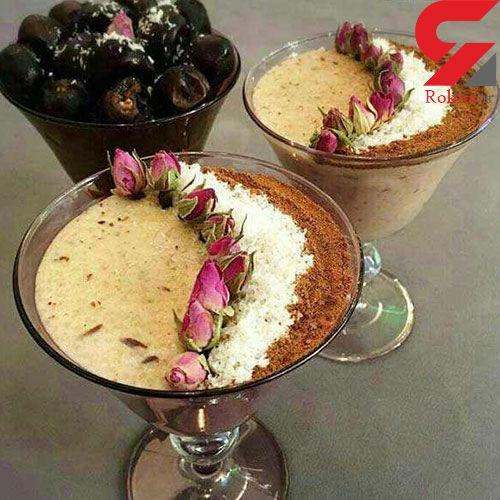 وعده افطار با فرنی خرما دلچسب تر می شود + دستور تهیه