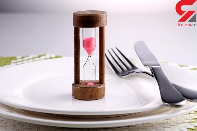 ارتباط زمان غذا خوردن بر اندازۀ شکم