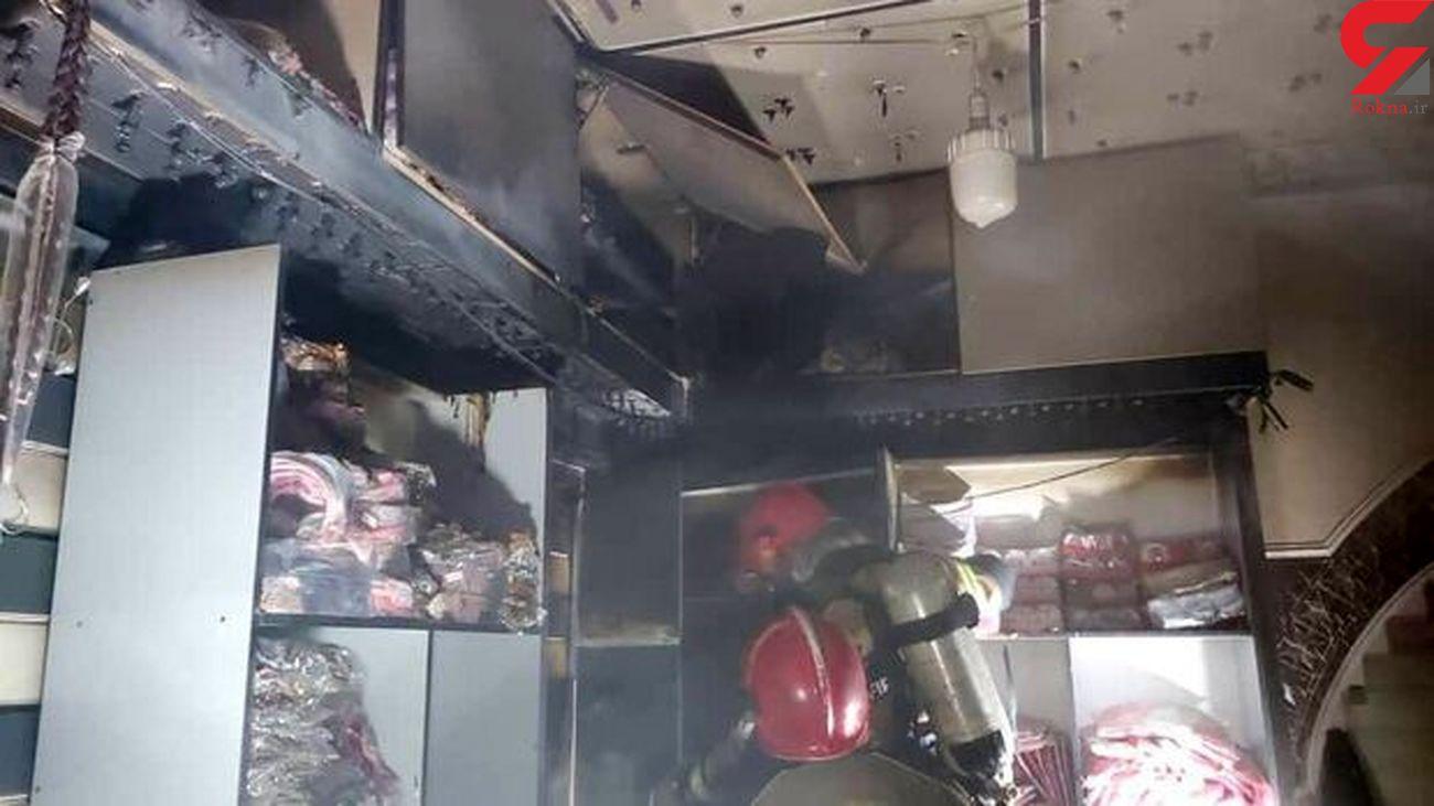 آتش سوزی در مغازه پنبه زنی در اصفهان