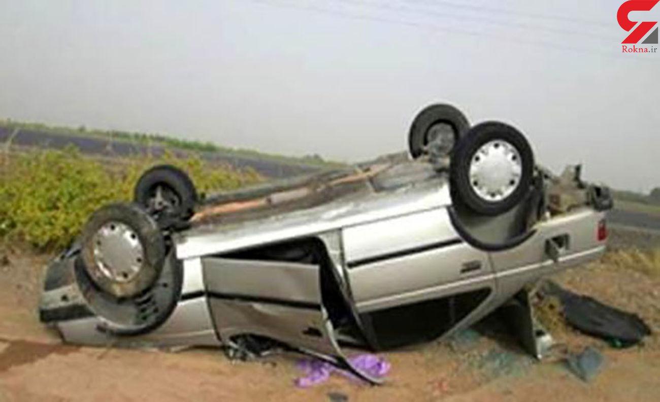 یک کشته حاصل واژگونی پژو در بیجار / راننده پژو گواهینامه رانندگی نداشت