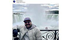 «بهنام بانی» در کنار آبشار نیاگارا