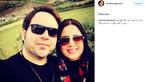 متن عجیب و بامزه آقای بازیگر هنگام منتشر کردن عکسی در کنار همسرش! +عکس