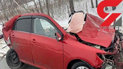 مرگ تلخ یک زن در حادثه هولناک + فیلم / روسیه