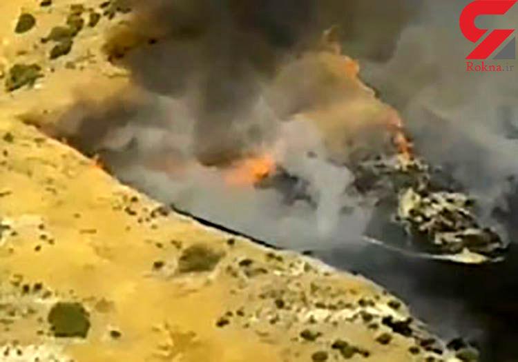 آتشسوزی مزارع گندم در شهرستان ممسنی+ فیلم