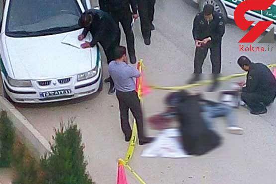 عکس / خودکشی قاتل 2 جوان ایلامی در وسط خیابان