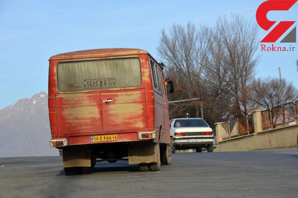 ورود وحشتناک مینی بوس بدون راننده به مدرسه دخترانه/ دانش آموزان هرمزگانی جیغ می کشیدند