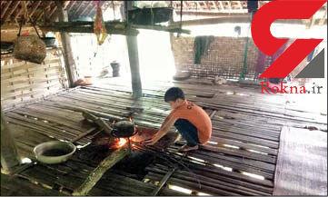 سرگذشت تلخ پسر10 ساله ای که به تنهایی زندگی می کند+عکس