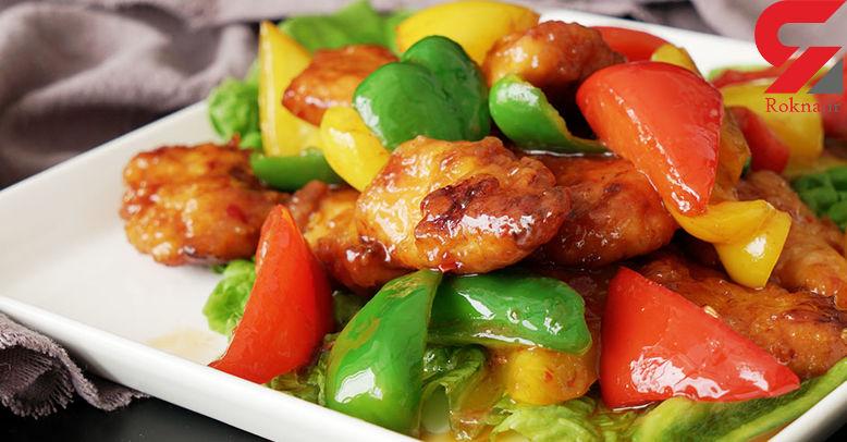 دستور پخت خوراک مرغ با عطر گشنیز