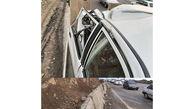 تصویر محل مرگ دختر جوان در جاده هراز / سنگ از آسمان سقوط کرد