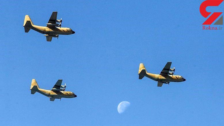 3 هواپیمای هرکولس ارتش با بمبهای 2000 پوندی + عکس