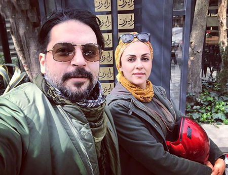 شیوا ابراهیمی و همسرش