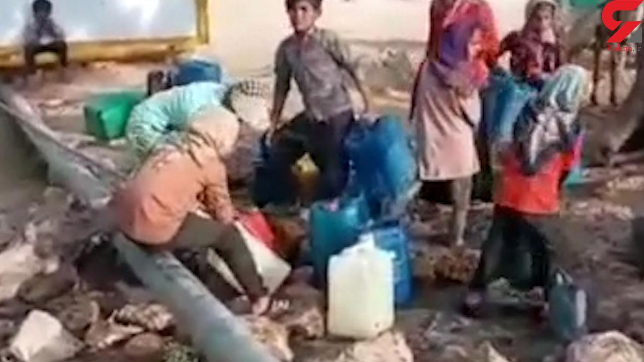 فیلم انتقال آب با الاغ درخوزستان + جزییات اسفناک
