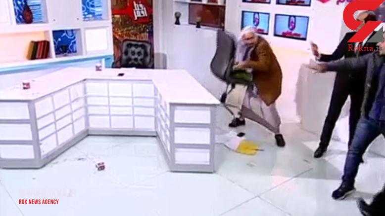 دعوای شدید 2 کارشناس اسلامی مصری در برنامه زنده تلویزیونی! + فیلم و عکس