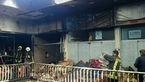 آتش در مغازه خرازی یک پاساژ را به آتش کشید + عکس