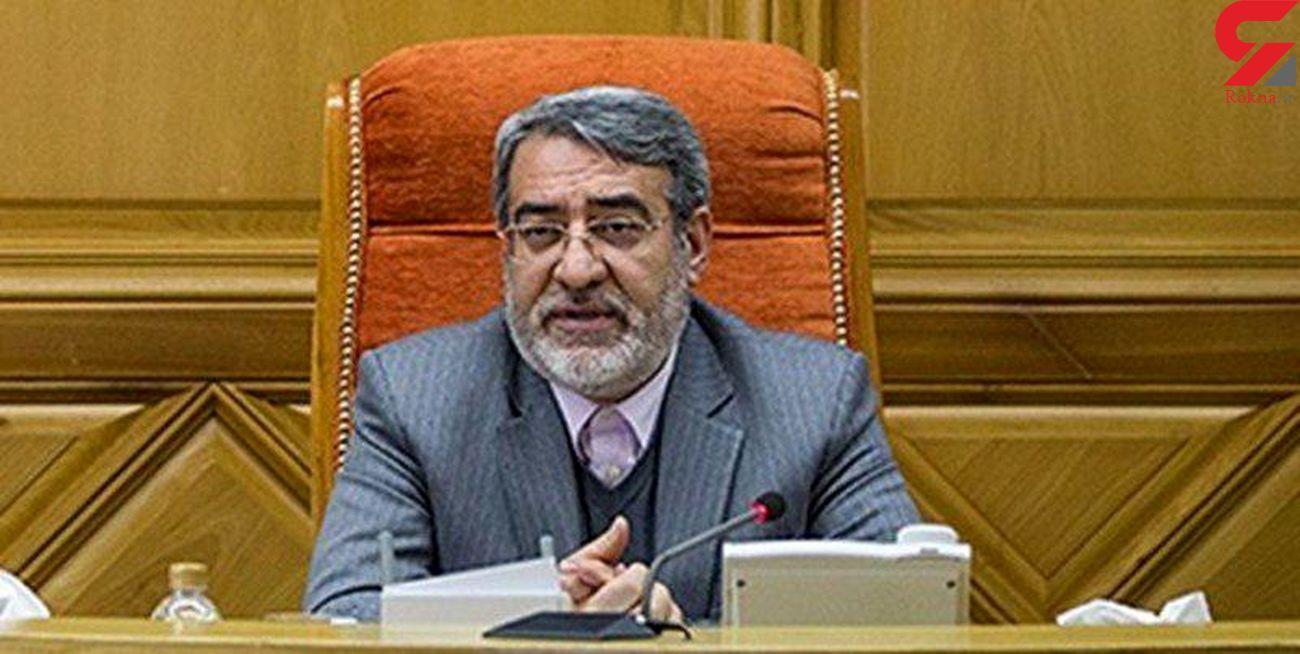 وزیر کشور: هر حادثهای در منطقه بر امنیت بینالملل اثرگذار خواهد بود / ایران آمادگی هر شرایطی را دارد