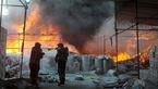 آتش سوزی صبحگاهی در  کارخانه نایلون باقرشهر + تصاویر جدال 3 ساعته آتش نشانان