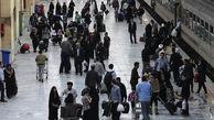 جابهجایی ۱۳۰ هزار نفر با قطار در روزهای برفی