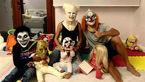 عکس / گریم جالب رونالدو و زن و بچه هایش در شب هالووین
