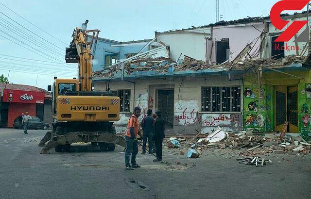 خانه مادری هوشنگ ابتهاج تخریب شد