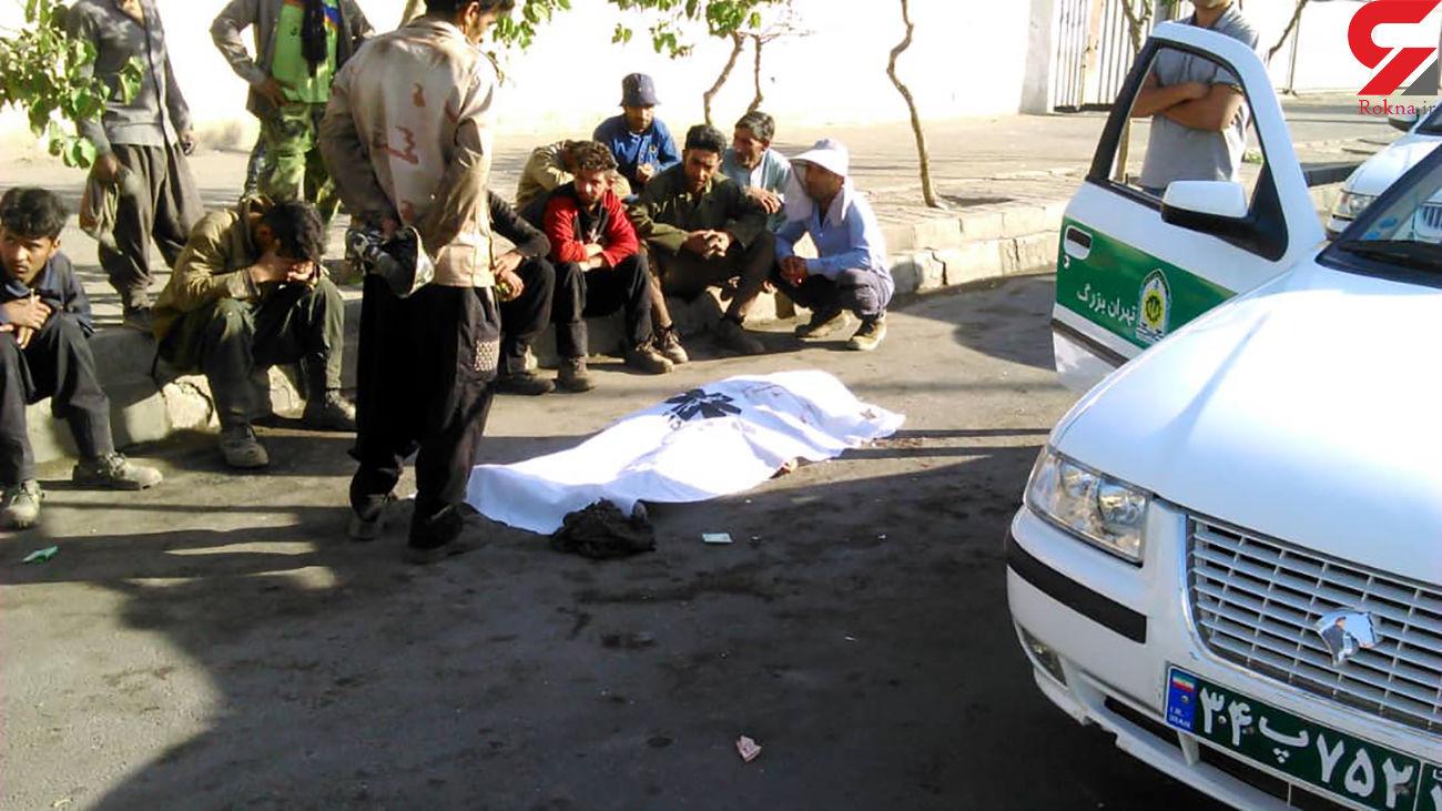 تصویر جسد مرد تهرانی در بلوار شقایق