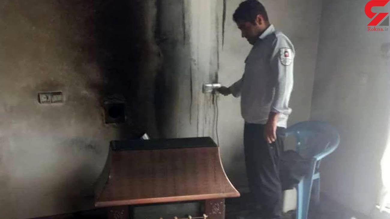 نجات جان جوان زرندی از مرگ حتمی / او در محاصره دود و آتش بود + عکس