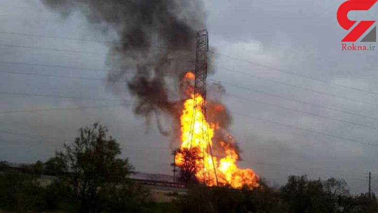 عکس های وحشتناک از لحظه انفجار  خطوط لوله گاز در اهواز! / 5 زن ومرد و کودک زنده زنده سوختند+ فیلم