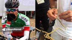 حادثه تلخ برای دوچرخه سوار زن ایرانی در جاکارتا + عکس