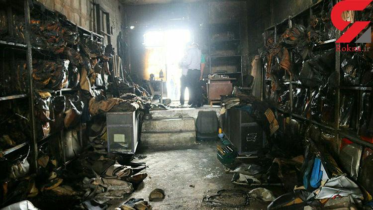 آتش سوزی تولیدی کفپوش و رویه صندلی خودرو در  خرم آباد + عکس