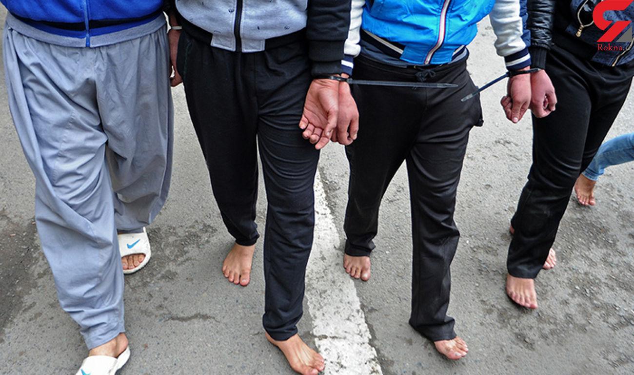 دستگیری 5 شرور منطقه خزانه در گاوداری