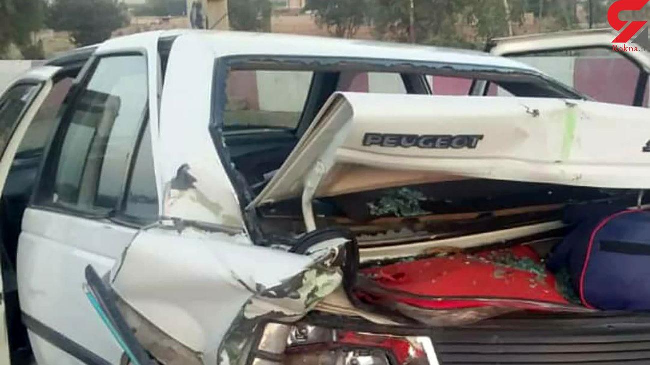 تصادف خونین تاکسی سبزرنگ با پژو در سمنان
