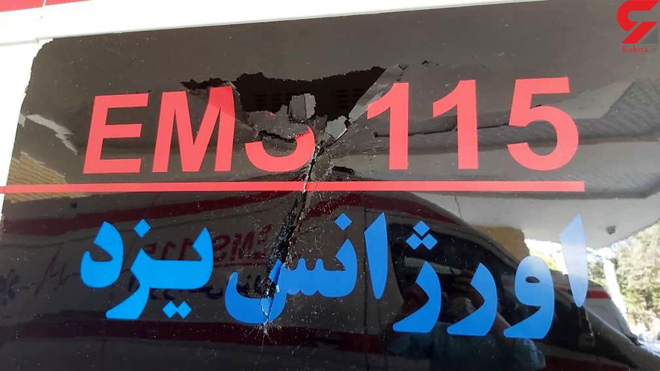 جزئیات جدید از حمله خونین به آمبولانس در یزد/ گنده لات دستگیر شد