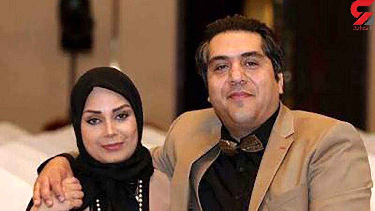 عاشقانه خانم مجری با همسرش+عکس