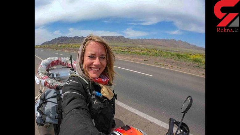 اتفاق جالب برای موتورسوار هلندی در مازندران + فیلم