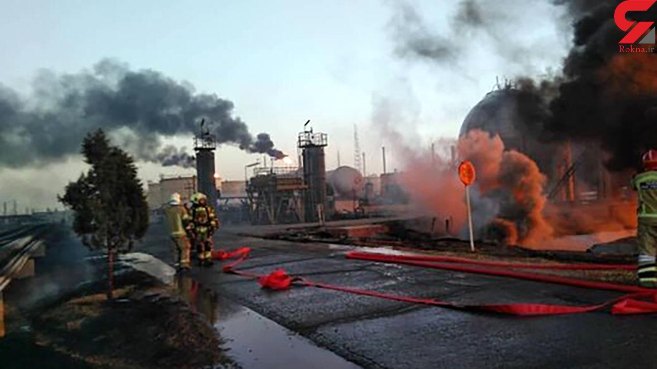 آتش پالایشگاه تهران مهار شد / اطفای کامل تا ساعاتی دیگر + فیلم و جزییات