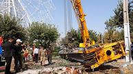 جرثقیل تاورکرین در قزوین قربانی گرفت