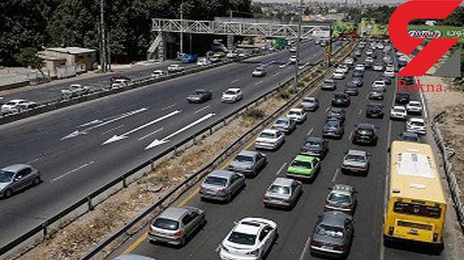 ترافیک در محور کرج-چالوس نیمه سنگین است/ بارش پراکنده باران در استان ایلام
