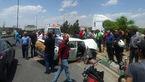 تصادف مرگبار 4 خودرو سبک و سنگین در آذربایجان شرقی