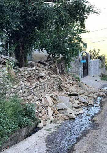 تصاویری از خسارت زلزله ۵.۱ریشتری در رامیان