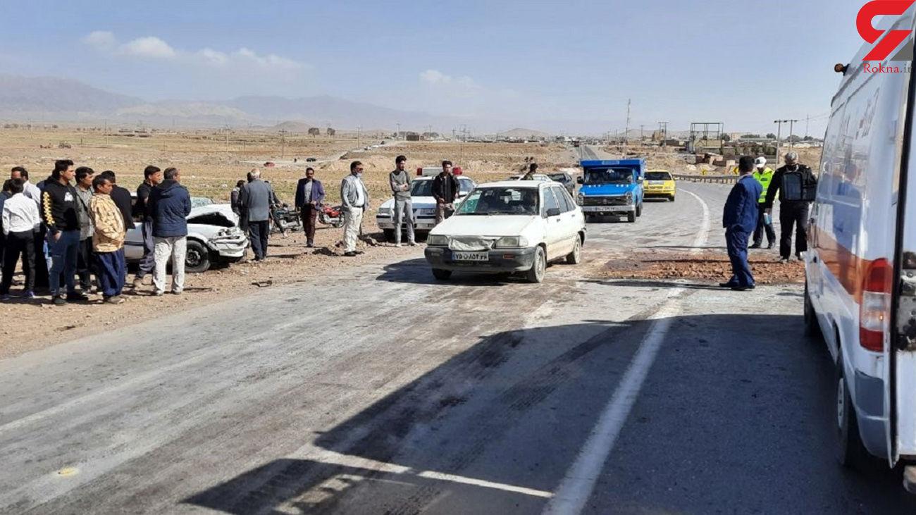 تصادف زنجیره ای با 7 زخمی در تربت حیدریه