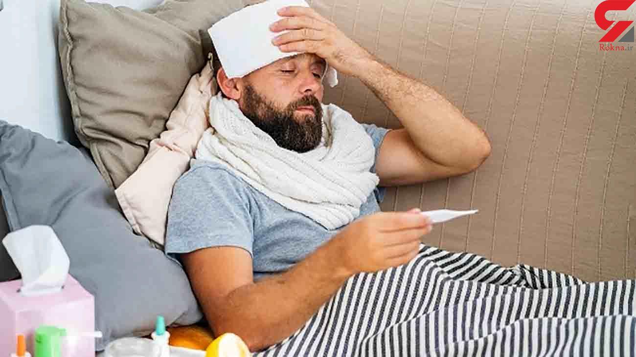 این مرد امریکایی همزمان هم آنفلوآنزا گرفت و هم کرونا + عکس