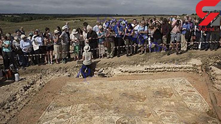 کشف موزائیک هزار و 600 ساله +تصاویر