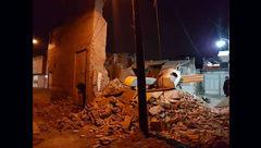 ریزش خانهای در دزفول باعث وحشت مردم شد!+عکس