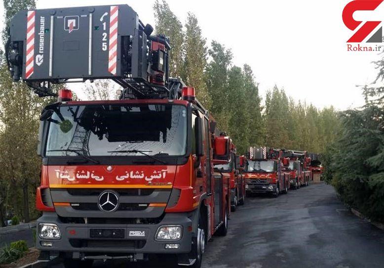 تجهیز  آتش نشانی تهران به 6 دستگاه خودرو مدرن ضدعفونی اماکن عمومی + فیلم