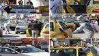 ضدعفونی کردن تاکسیهای حمل و نقل عمومی شهری در شهرداری نکا