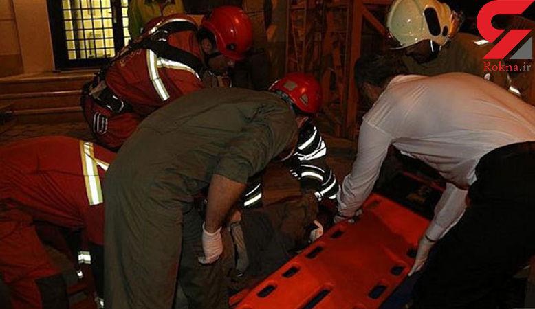 قربانی شدن 4 کارگر در حادثه سقوط جرثقیل ساختمانی در ملاصدرای تهران+ تصاویر