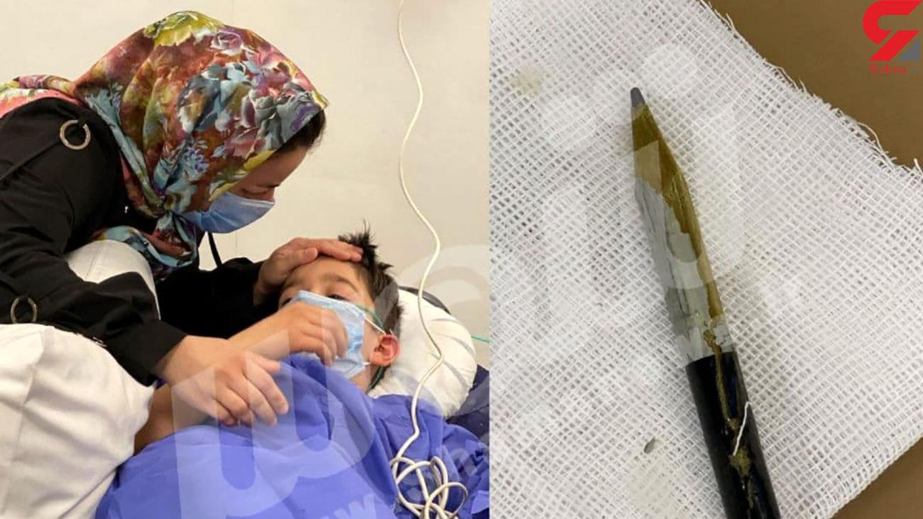 قورت دادن مداد توسط پسر 8 ساله تبریزی