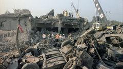 انفجار مقر تفنگداران آمریکا در بیروت / انگشت ها به سوی ایران + تصاویر